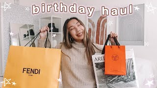 birthday haul! (hermes, fendi, aritzia, and more!)