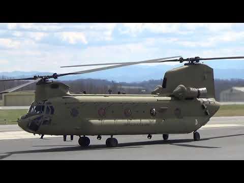 CH 47 Chinook Start & Take Off 18Mar19