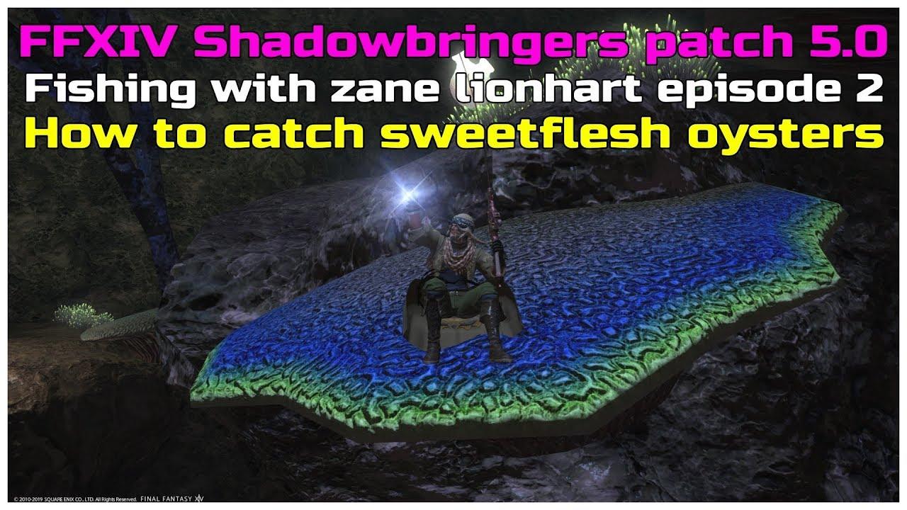 FFXIV Shadowbringers patch 5 0 fishing with zane lionhart episode 2