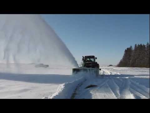 RDX 117 Schulte Snow Blower on FM-350 Front Mount Frame
