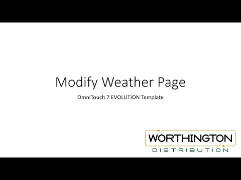 OmniTouch 7 Template Customization Part 2-9 - Customizing Weather Page