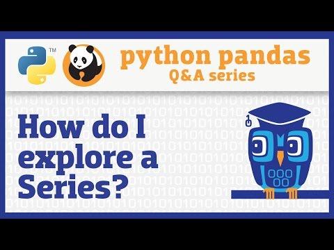 How Do I Explore A Pandas Series?