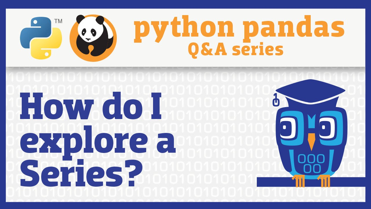 Video series: Easier data analysis in Python using the pandas library