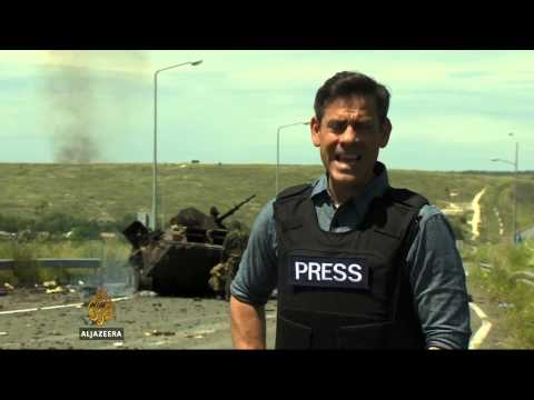 Ukrainian military transport plane shot down