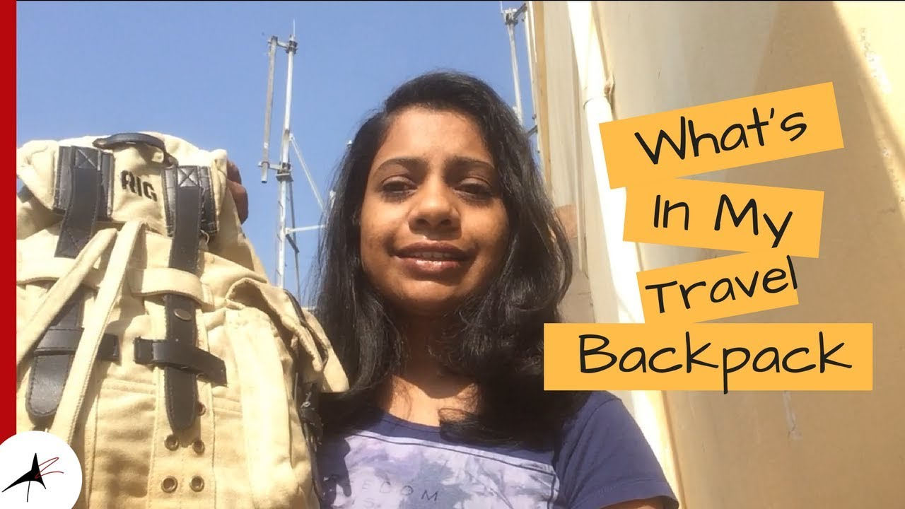 What's In My Travel Backpack   Travel Essentials   Arpitharai