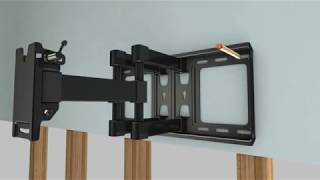 TV Wall Mount Bracket for 37-70 Inches TVs - Full Motion with Articulating Arm & Swivel