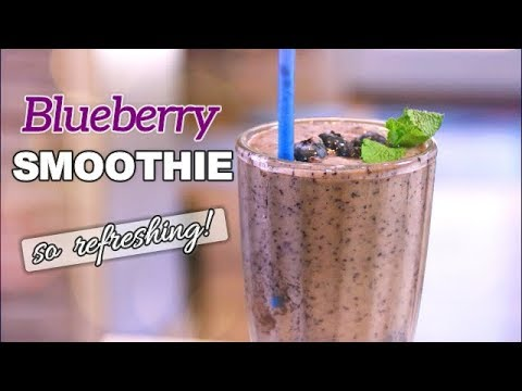 Refreshing Blueberry Smoothie