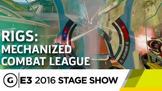 RIGS: Mechanized Combat League Brings Arena Shooters to VR - E3 2016 Stage Show