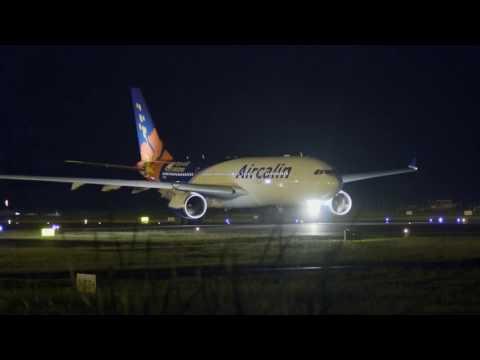 AirCalin (F-OHSD). Décollage. 21h39. 07/01/2017
