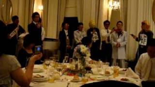 哲男さんの結婚式の余興! 迫真の演技サイコーでした.