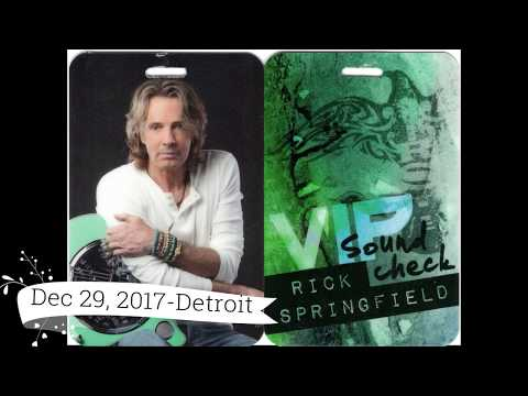 Rick Springfield Concert 2017 - Including sound check footag