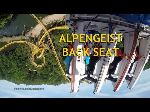 Alpengeist POV 60FPS HD Busch Gardens Williamsburg Back Seat On-Ride B&M Inverted Roller Coaster
