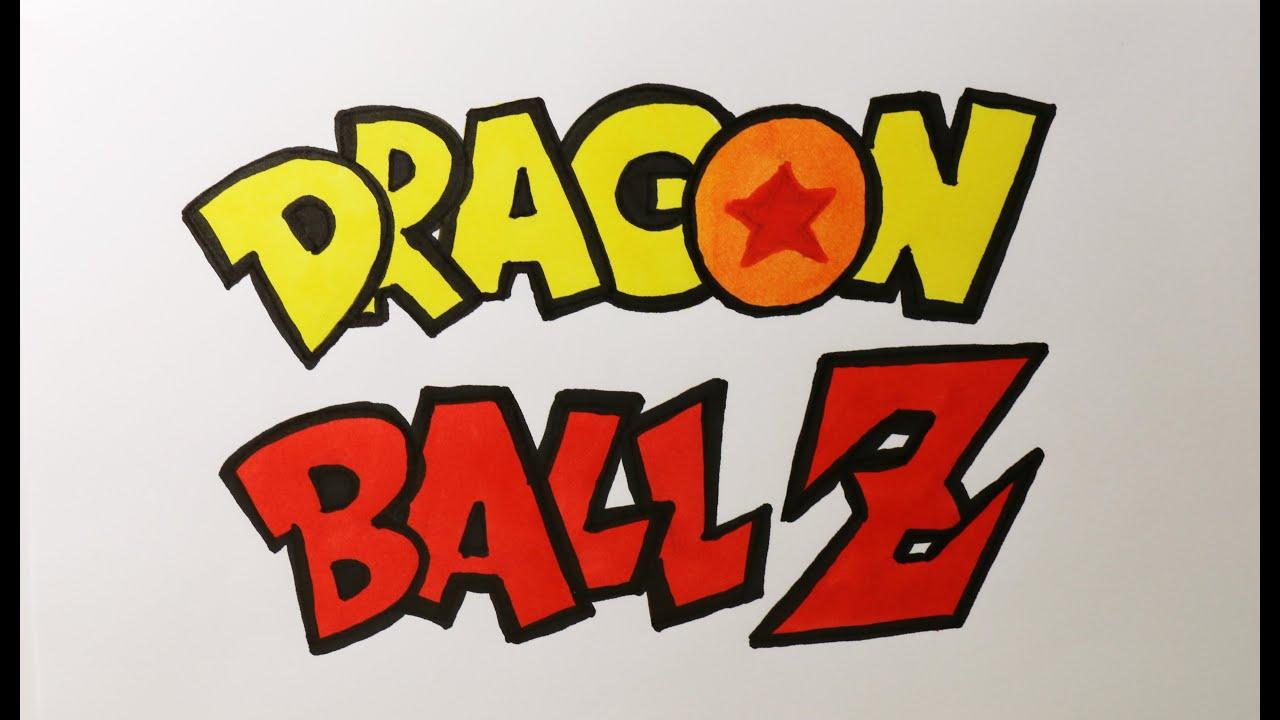 How to draw Dragon Ball Z logo - Dessin du logo DBZ - YouTube