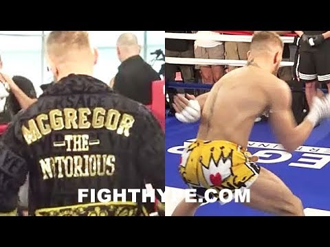 "(FUNNY!!) CONOR MCGREGOR'S CRAZY ""RUBBER ARMS"" AND HIS VERSACE GIFT; A DIFFERENT KIND OF WARM UP"