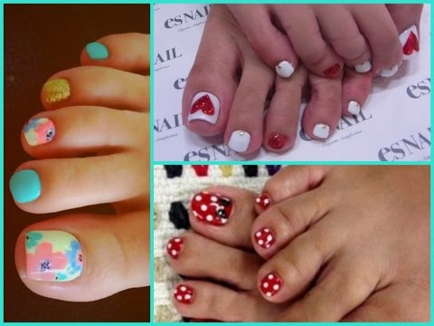 Toenail Art Design Cool Pedicure Ideas Youtube