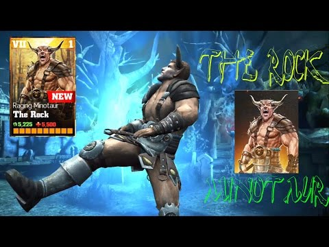 Update 1.7 The Rock Minotaur Review All special Attacks:WWE Immortals Ios/Android