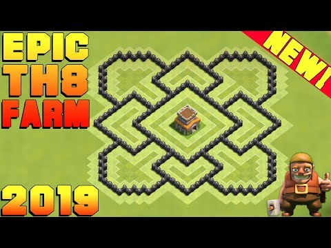 BEST Town Hall 8 (TH8) Epic Farming Base 2019!! TH8 Farming Base Design/Layout - Clash Of Clans