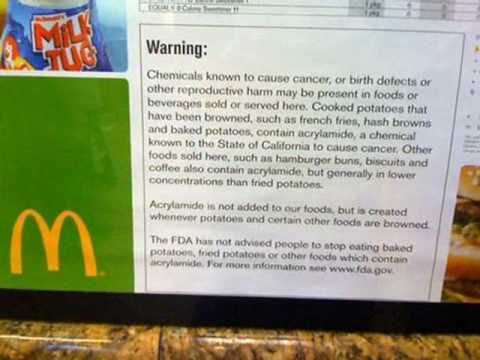 MC Donalds food can give you cancer (pic speaks for it self)