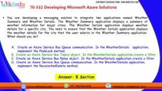 Microsoft 70 532 Exam Microsoft 70 532  Developing Microsoft Azure Solutions   part  1