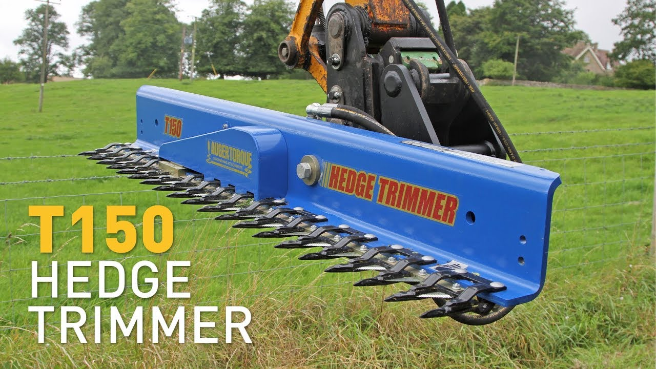 Hedge cutters - Excavator attachments for hedge trimming