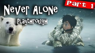 Never Alone PC Gameplay | 1080P/60FPS Inupiat Eskimos | Fun and Beautiful Puzzle/Platformer