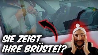 Frau zeigt Motorradfahrer ihre Brüste !? - Driftzember