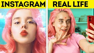 INSTAGRAM VS. REAL LIFE || Funny Situations You Can Relate To