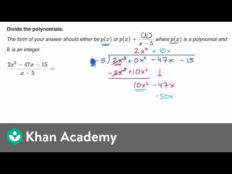 Another polynomial division example