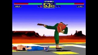 Virtua Fighter 2-Andy (Wolf) vs George (Lau)