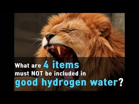What Are 4 Items Must NOT Be Included In Good Hydrogen Water?