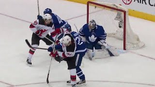 Maple Leafs' lead lasts 34 seconds before Devils respond