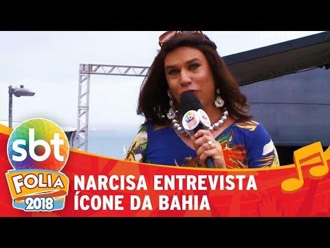 Narcisa entrevista ícone da Bahia | SBT Folia 2018