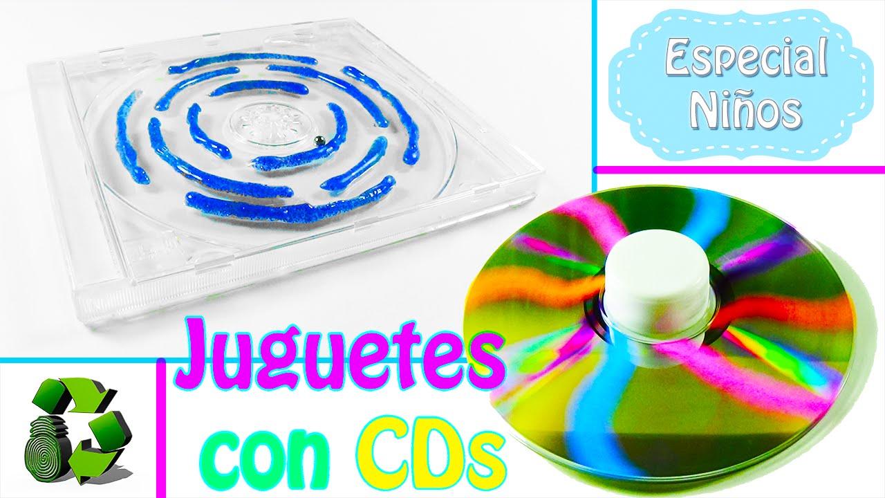 2 Juguetes Para Ninos Con Cds Reciclaje Ecobrisa Youtube