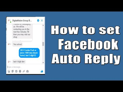 How To Set Auto Reply Messages In Facebook Page