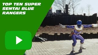 These are the my ten favorite Blue Rangers from Super Sentai. - Bac...
