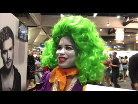 Female Joker Cosplay At San Diego Comic Con 2017 #SDCC