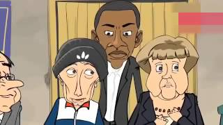 Путин, Обама, Меркель, Олланд и... Эрдоган. Мультфильм
