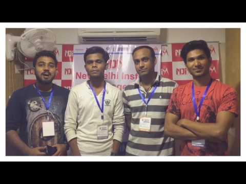Smart India Hackathon 2017 Grand Finale at NDIM Campus. Team Nagpur