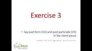 Часть 1. Видео упражнения на запоминание неправильных глаголов.