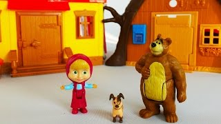 Repeat youtube video Masha and The Bear Simba Toys Houses Mawa Kawa NEW episode