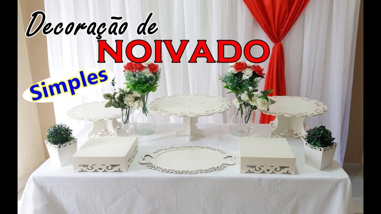 Decoraç u00e3o de Noivado SIMPLES em casa #Decorando Festa Comigo YouTube -> Decoração De Noivado