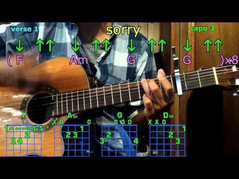 Sorry Justin Bieber Guitar Chords