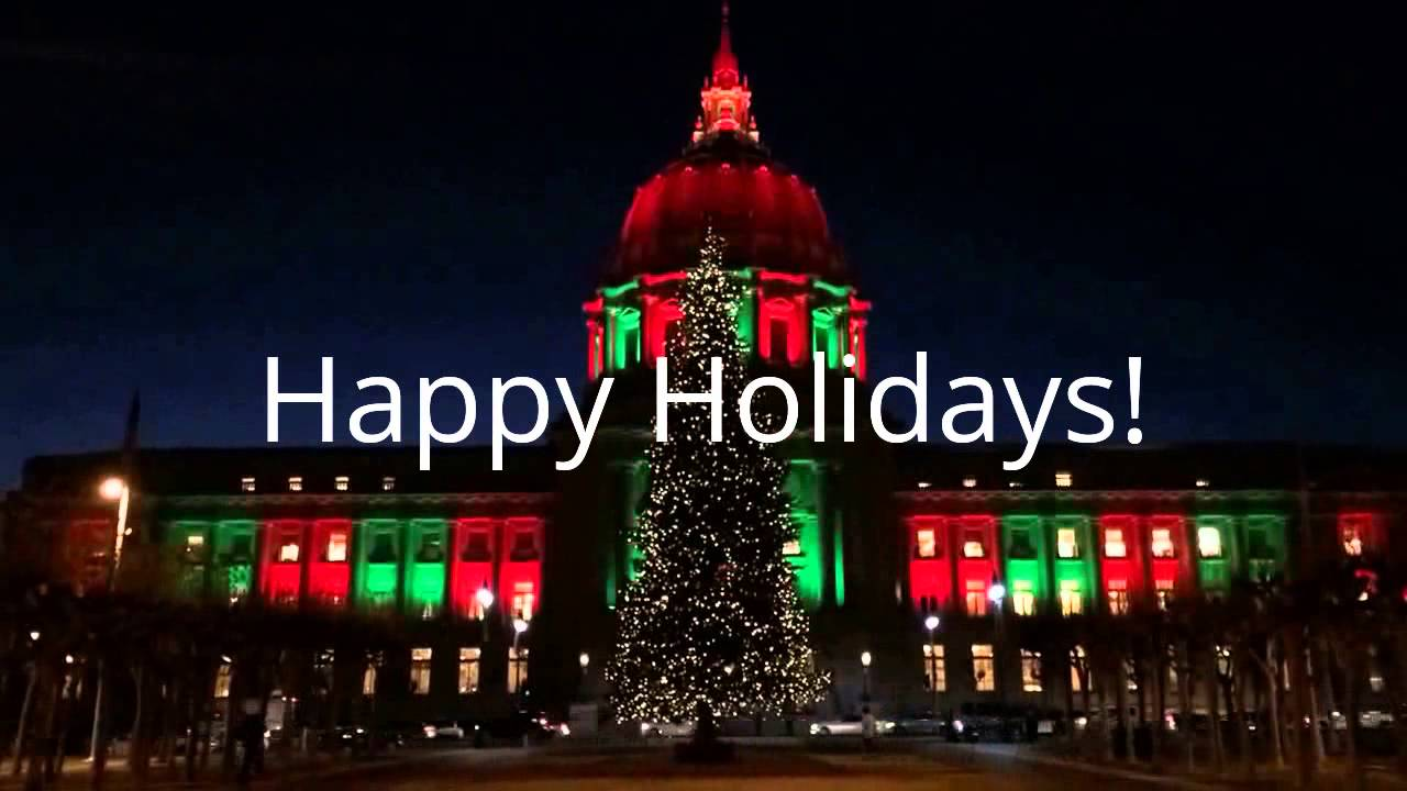 One Month Only, Lucky Tuk Tuk new Holiday Lights and Sites ...  San Francisco City Hall Trees