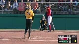 Dayton 3, Wright State 1 - Softball - April 1, 2015