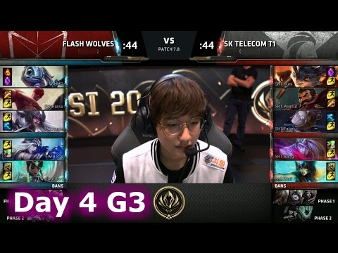 Flash Wolves vs SK Telecom T1 | Day 4 LoL MSI 2017 Group Stage | FW vs SKT Mid Season Invitational