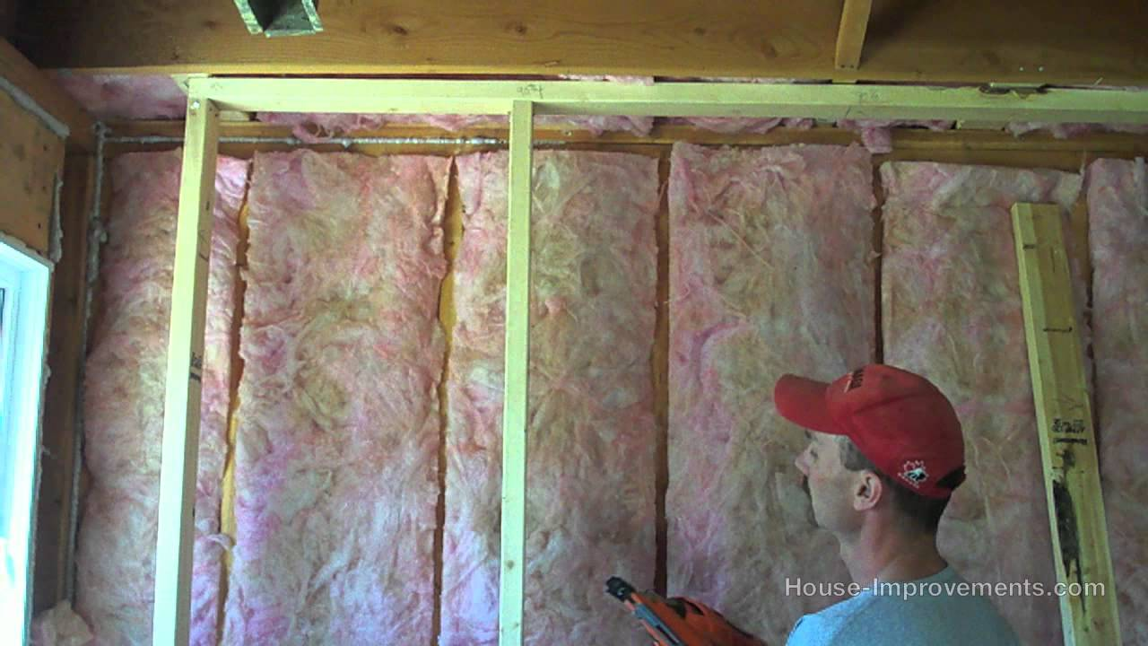 Basement Wall Framing framing a basement wall - youtube