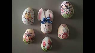 як зробити яйця з гіпсу