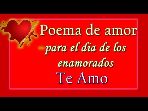 Poema De Amor Para El Dia De Los Enamorados Te Amo Youtube