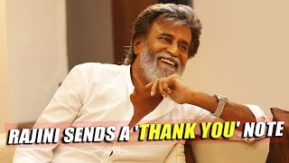 SuperStar Rajinikanth Sends A Thank you Note To Fans With #Magizhchi