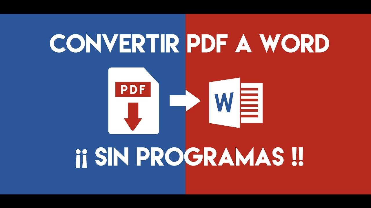 Transformar Pdf Escaneado A Word Editable Youtube